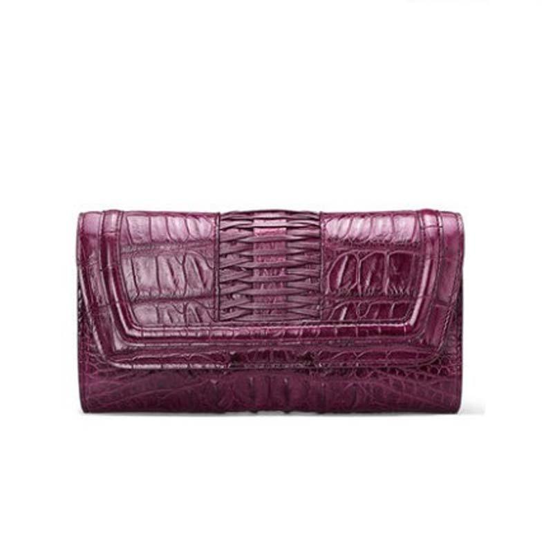 Gete-حقيبة يد نسائية من جلد التمساح ، حقيبة يد ، موضة تايلاندية ، حقيبة سهرة ، محفظة ، جلد تمساح ، مجموعة جديدة