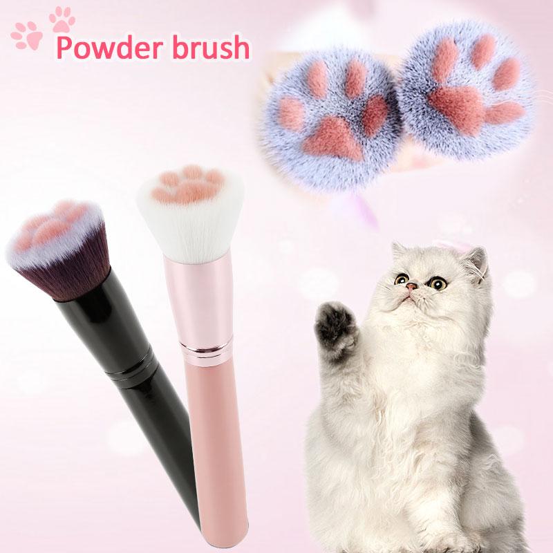 Cat Feet Style Makeup Brushes Cute  Brush Blush Wood Handle Foundation Blending Face Brush Cosmetic Beauty Makeup Tool Maquiagem