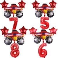 blaze and the monster machines balloon set party decoration foil number balloon happy birthday baby shower party supplies