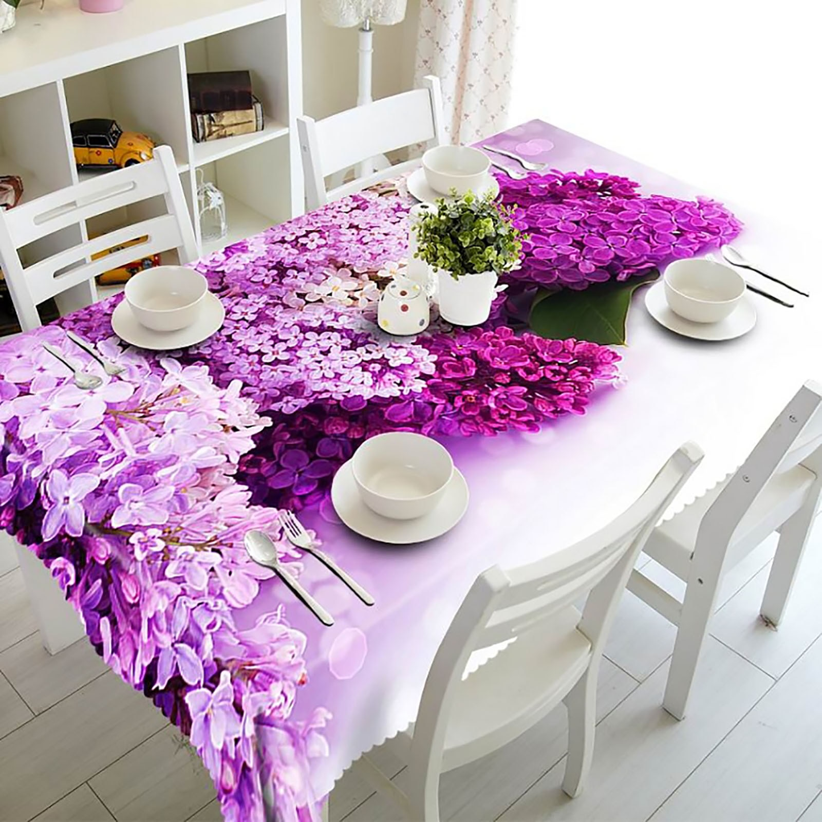 3d pano de mesa decoração de casa casamento rosa flor capa de mesa feliz natal festa jantar decoração capa de mesa