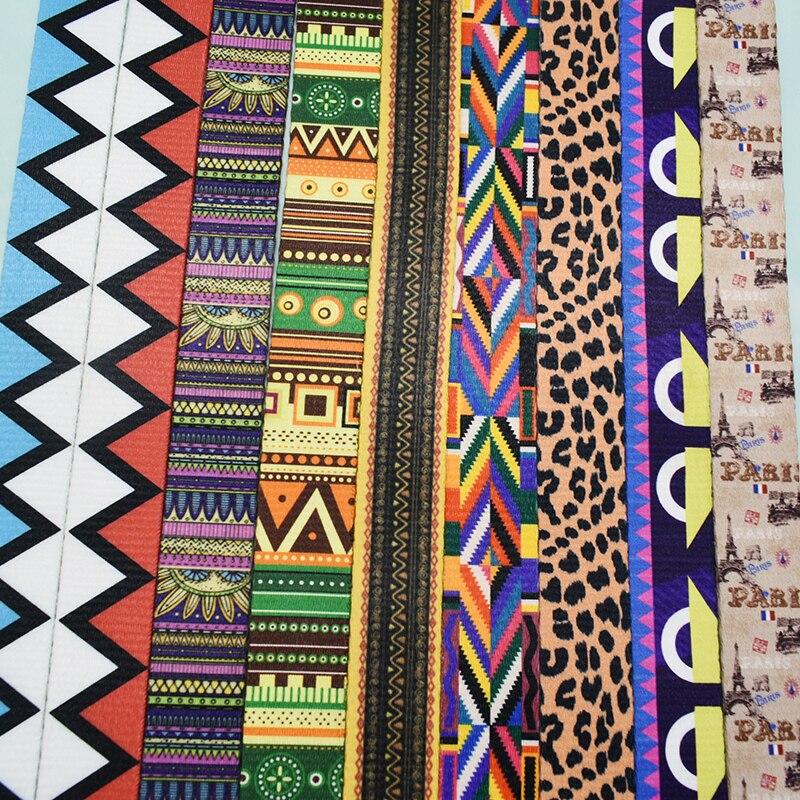 Retailing 1Yards Width 25mm Webbing 12 Colors Printed Webbing Ribbon Luggage Belt Strap Rope Dog Pet