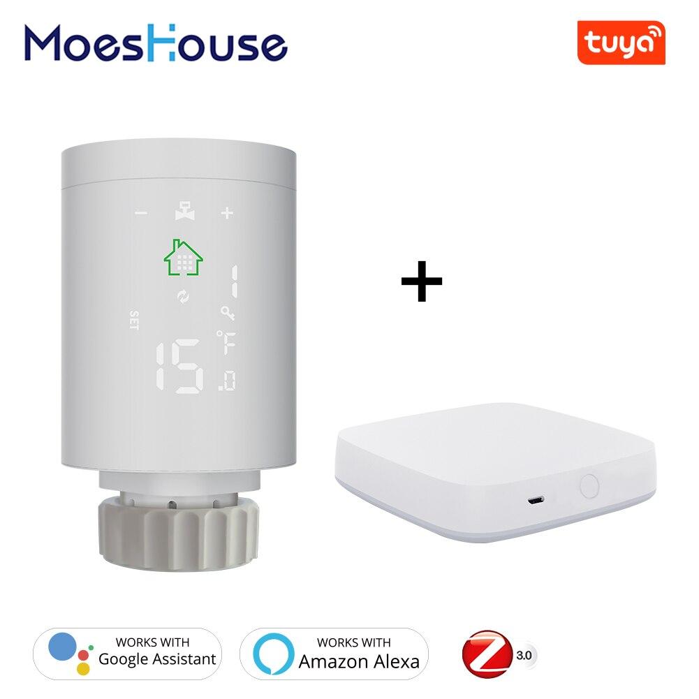 Tuya-مشغل المبرد الذكي ZigBee3.0 ، منظم حرارة قابل للبرمجة ، 2MQTT ، التثبيت مع Alexa