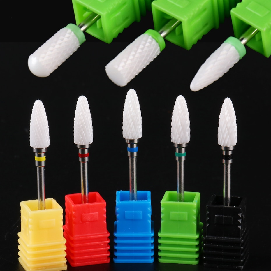 1 pieza de cortadores de cerámica para manicura, broca de diamante, amoladora de cutícula, fresa eléctrica, accesorios de uñas, BETDC1-18