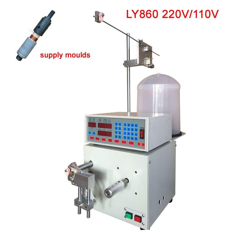 LY860 التلقائي صوت ماكينة لف المحركات الذاتي الترابط سلك ورقة أنبوب لفائف اللفاف مع قوالب 1 1.5 2 2.5 3 4 بوصة