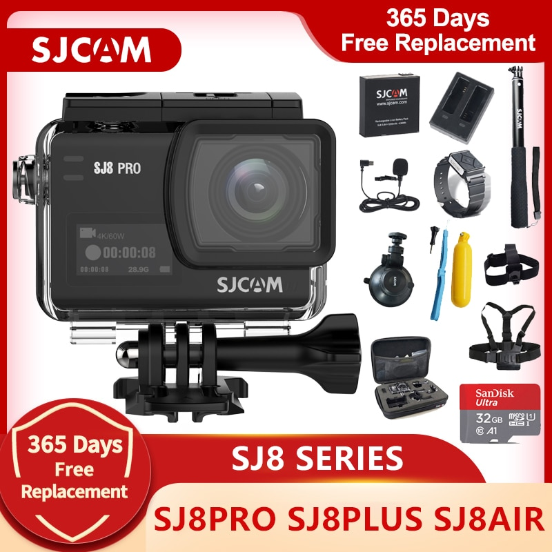 SJCAM SJ8 Series Action Camera SJ8 Air & SJ8 Plus & SJ8 Pro Camera 1290P 4K WIFI Remote Control Waterproof Sports DV