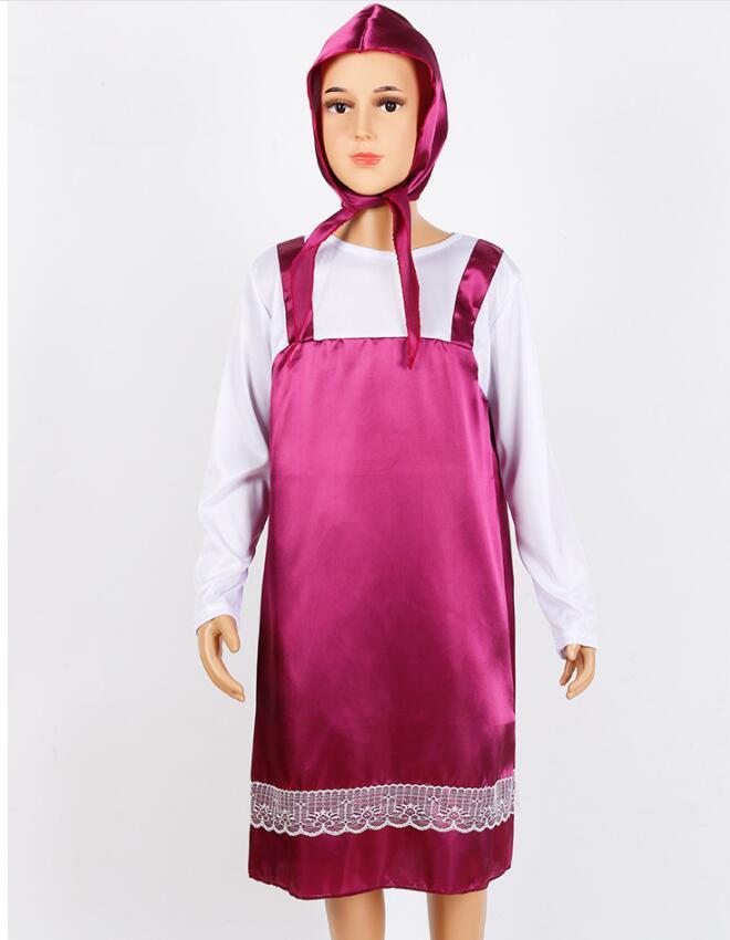 Оригинальный костюм Маши, костюм на Хэллоуин, Детские платья для девочек
