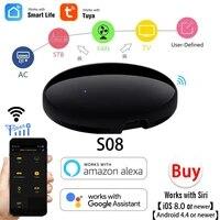 Telecommande universelle intelligente wi-fi IR  adaptateur de controle a infrarouge pour la maison  compatible avec Alexa Google Assistant Voice Smart Home