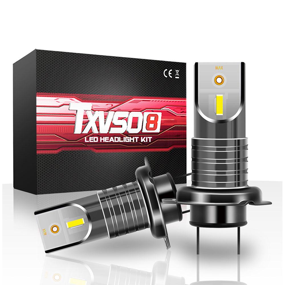 TXVSO8 H7 Led Lights for Car Mini 6000K Headlight 55W/Bulb Universal Super Bright COB Lamps for Automobiles Luces Led Para Auto