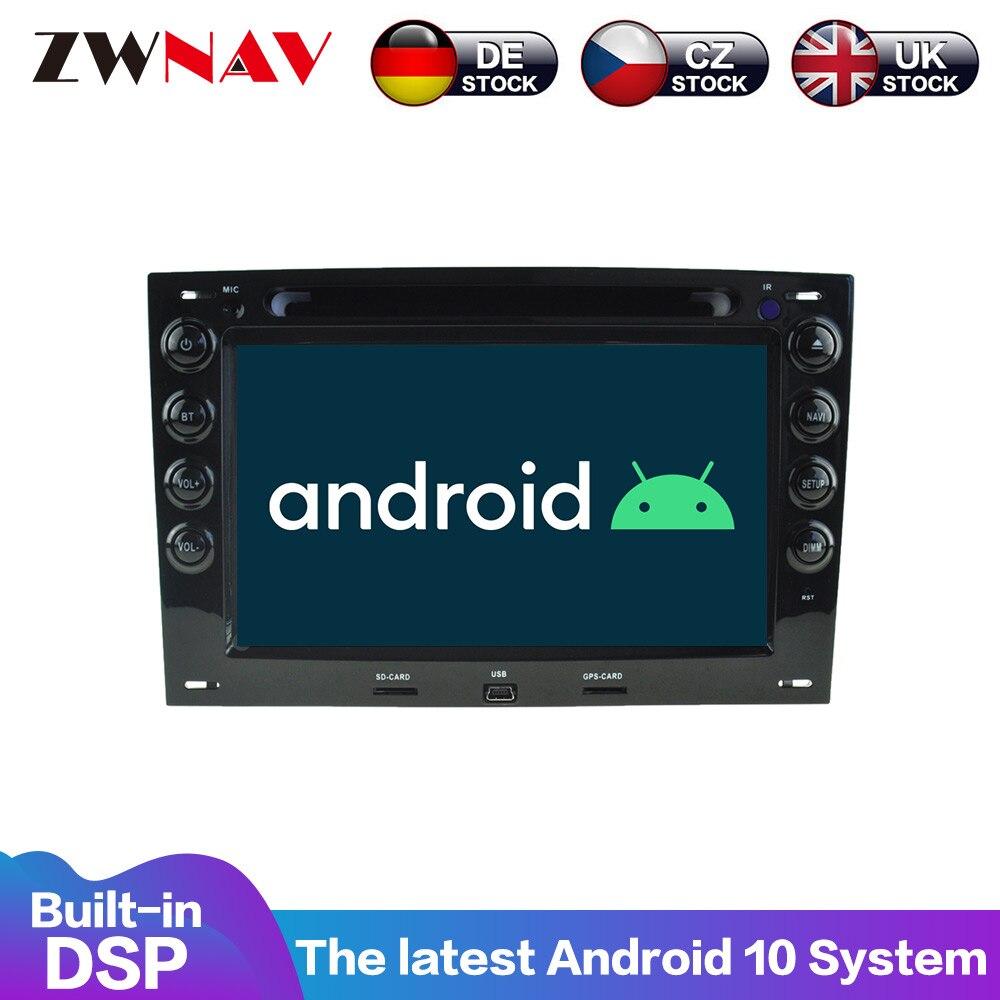 Android 10 gps para coche DVD reproductor multimedia para Renault Megane 2003-2009 GPS para coche navegación de mapa de Radio RDS WIFI Bluetooth dsp