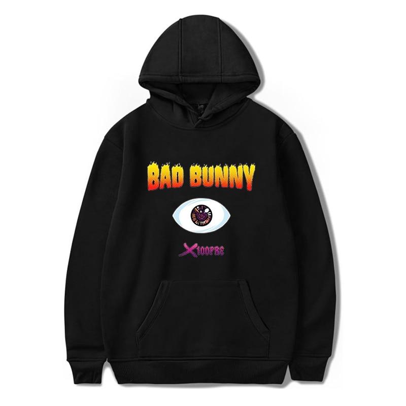 MODA Feminino Casual Hoodies Bad Coelho Com Capuz Pullovers Harajuku Streetwear dos homens Camisola de Outono Meninos/Meninas Hip Hop Hoody