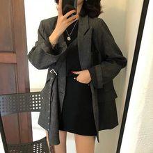 Women Blazers Suit Jacket Women Spring and Autumn New Korean Style British Style Design Sense Fashio