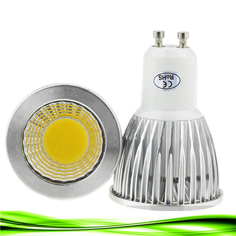 10 bombillas LED GU10 de 110V/220V, 9W, 12W, 15W, regulable, focos LED GU10 bombillas LED COB, Blanco cálido