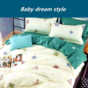 2020 New Arrival Simple Double sided Bed Linings Concise Style Bedding Set Quilt Cover Bed Sheet Pillowcase Cover Bed 4pcs / set