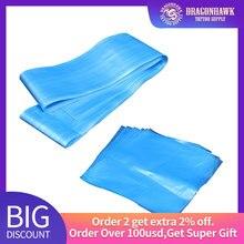 Plastique bleu 30 ps tatouage pince cordon couvre + 30 ps tatouage mitrailleuse couvre fournitures de tatouage