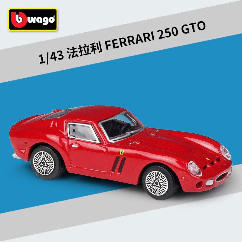 Bburago 1 43 ferrari 250 gto rad liga modelo de carro coleção presente decoração brinquedo