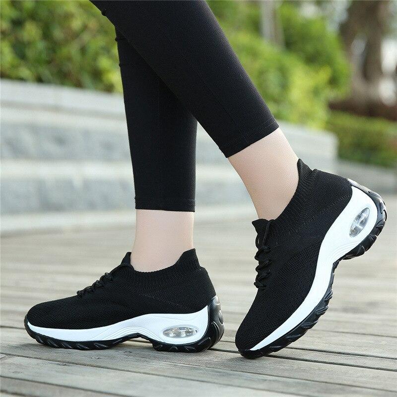 Женская повседневная обувь, модная дышащая прогулочная сетчатая женская обувь, гибкая женская обувь, прогулочная обувь для бега