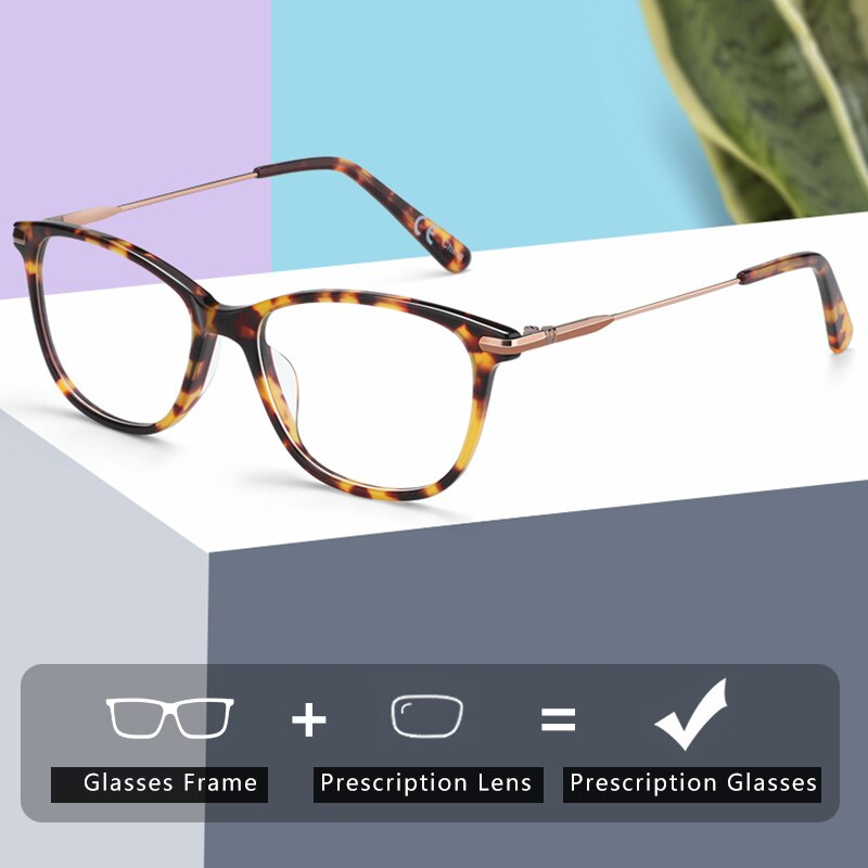 ZENOTTIC Acetate Prescription Progressive Glasses Women Anti Blue Light Photochromic Eyewear Optical