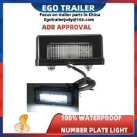 led trailer number plate light license plate lamp 10 30v submersible boat truck bus caravan camper accessories rv parts