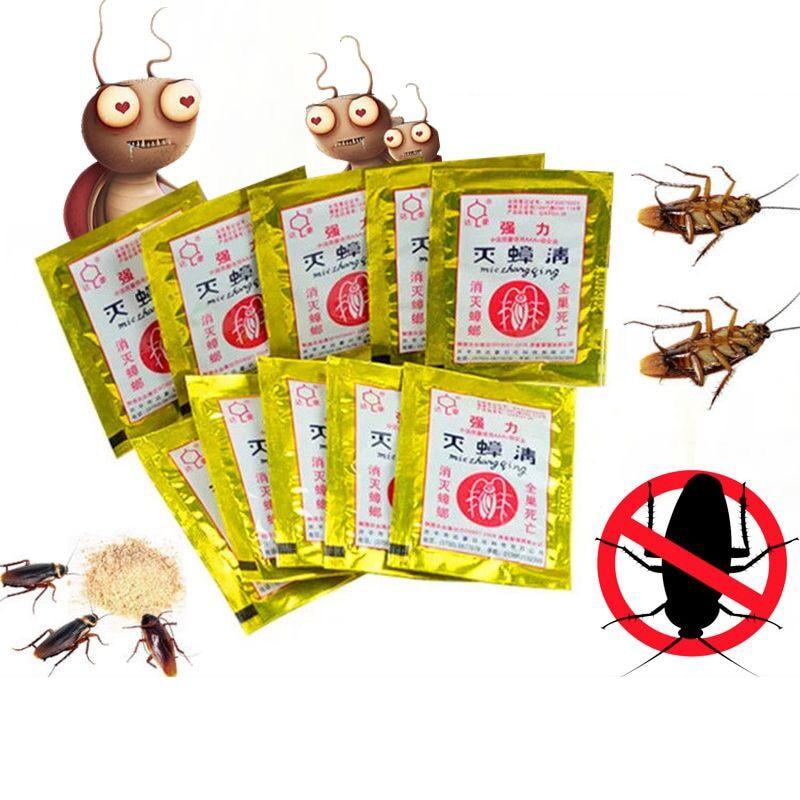 100pcs убиец на хлебарки на прах хлебарка лекарство домакинство нетоксични кухня хлебарка убийство стръв прах убиец хлебарки