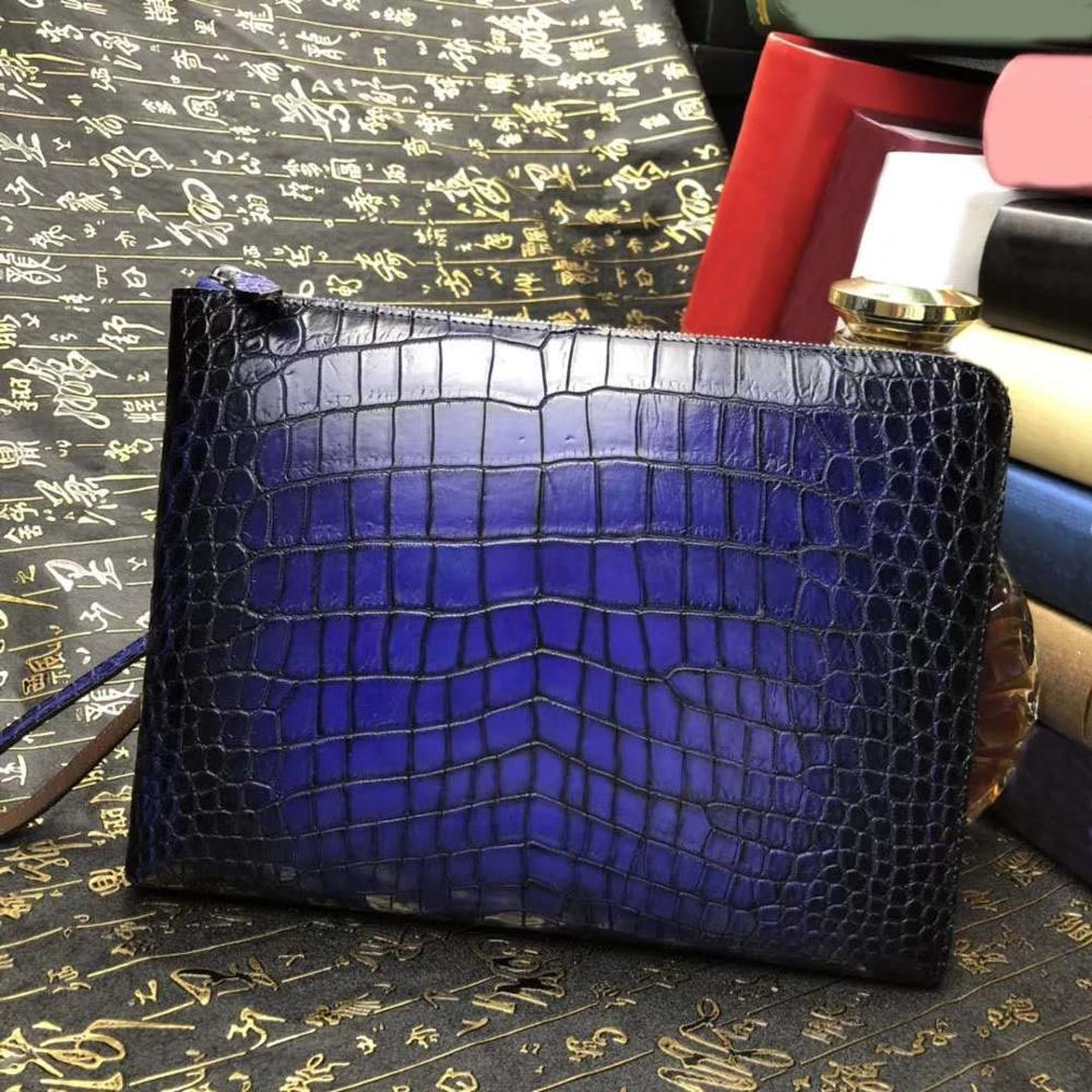 chue men hand bag men clutch bag male bag crocodile leather men bag  crocodile bag business  leisure