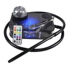 Moderne Acryl Tragbare Narguile Shisha Shisha Nargile Rauchen Wasser Rohr Komplette Rauchen Zubehör Set Mit LED Licht кальян