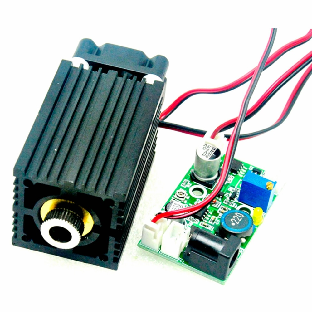 445nm 450nm Focusable 33x50mm Blue Dot Laser Module 2W 2000mw W/Driver Cooling Fan TTL and AC Adapter