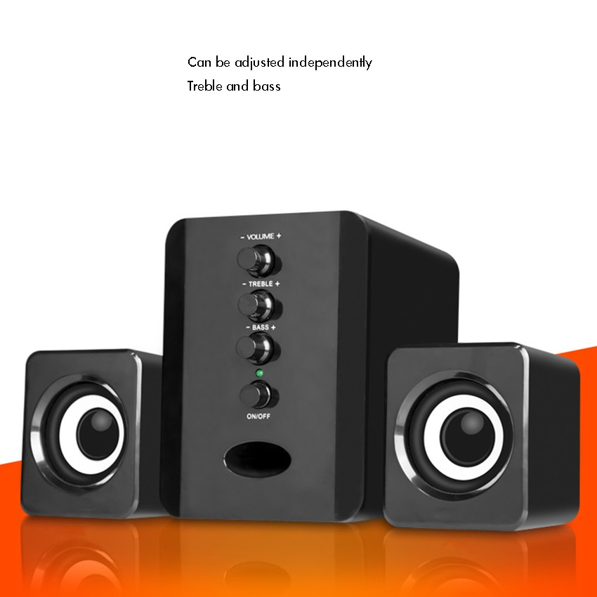 USB Subwoofer Speaker System, Wired Computer Speakers Great for Music, Movies, Gaming, and Multimedi