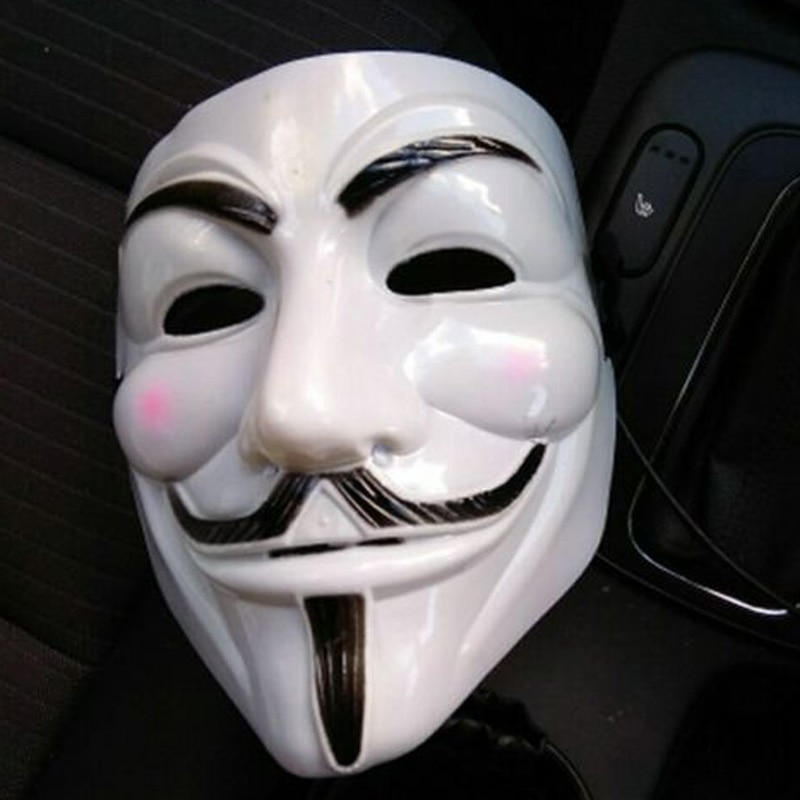 V for Vendetta Anonymous Guy Fawkes Horror Mask Adult Costume Macka Mascara Halloween Party Movie Cosplay Hacker Mask
