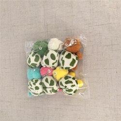 4cm e 6cm de pelúcia tartaruga, brinquedo de tartaruga recheado, mini chaveiro decoração pelúcia boneca