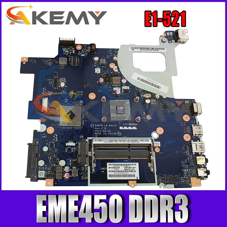 Q5WT6 LA-8531P para ACER Aspire E1-521 EME450 placa madre del cuaderno TE11BZ...