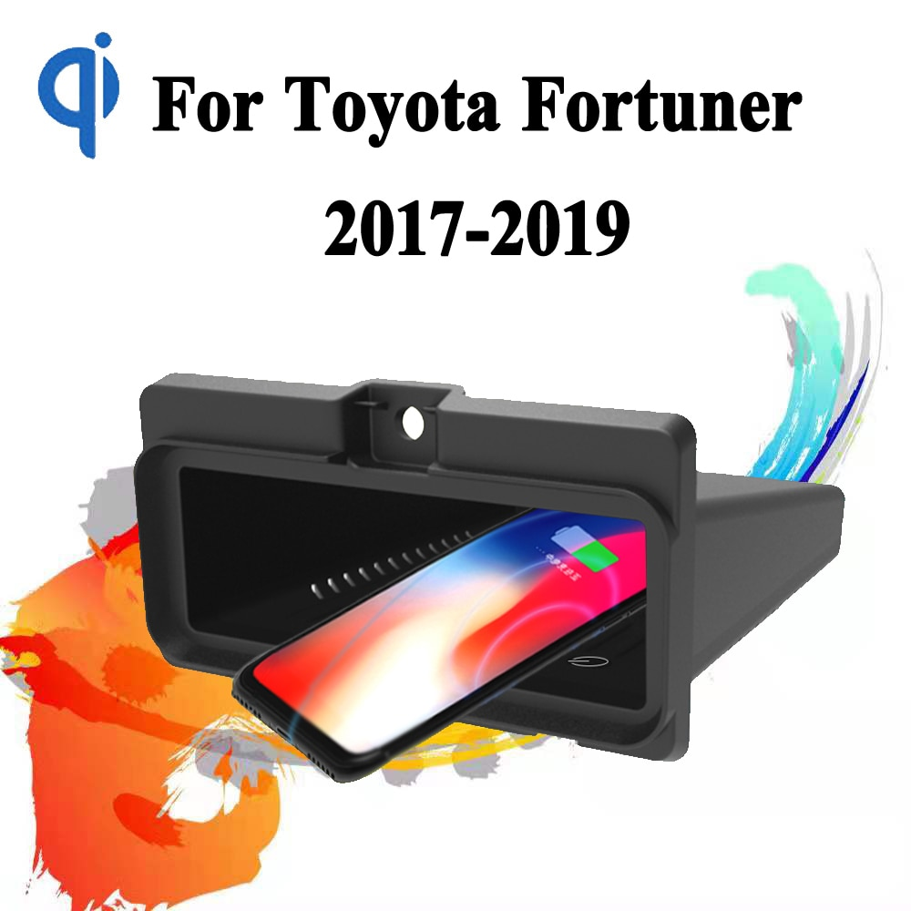 Review For Toyota Fortuner 2017-2019 15W Qi Fast Charging Car Vehicle Wireless Charger Pad Auto Android Phone Iphone Holder Smart Plate