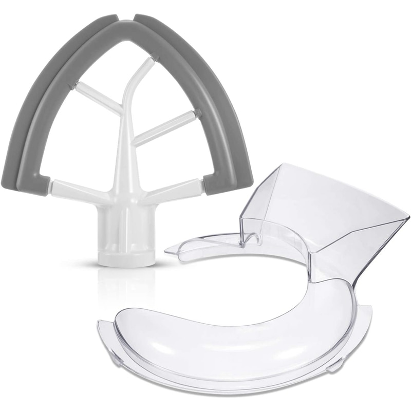 EAS-Tilt Head 4.5/5 Quart Flex Edge Beater for Pouring Shield Stand Mixer Replacement for Kitchen,Total 2 Pieces