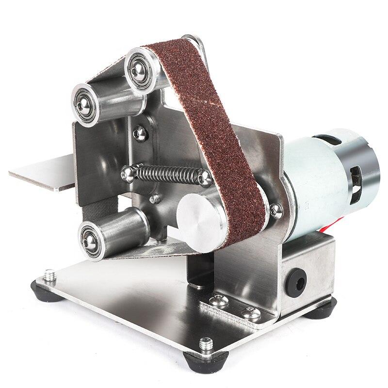 110V/220V nuevo estilo DIY pulido máquina de pulido cortador bordes afilador multifuncional amoladora Mini lijadora de banda eléctrica