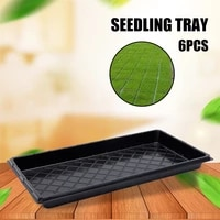 6pcs seedling starter tray reusable plastic growing pot plate with drainage hole for garden greenhouse hydroponics 100c%d1%81 pi669