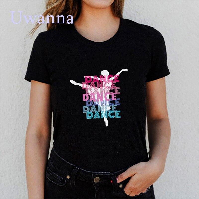 Camiseta Vogue De Ballet para Mujer, remera estampada Harajuku Vintage, camisetas De...