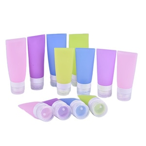 Silicone Skin Care Travel 38/60/80ml Refillable Bottles Lotion Shampoo Gel Squeeze Bottle Tube Containers Squeeze Kits Drop ship