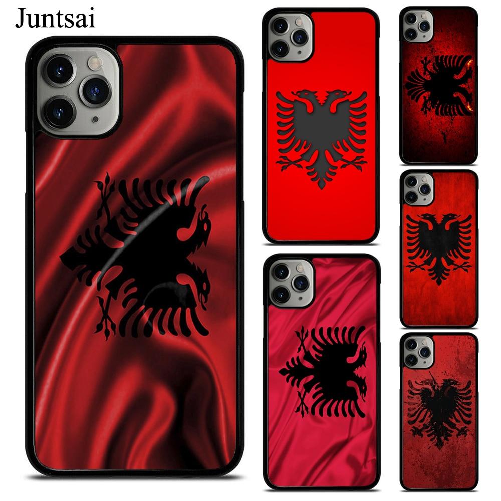 Bandera Albanesa, águila, Banner, funda para iphone XR X XS 11 Pro Max SE 2020 6s 8 7 Plus, 5S, funda de teléfono de goma TPU