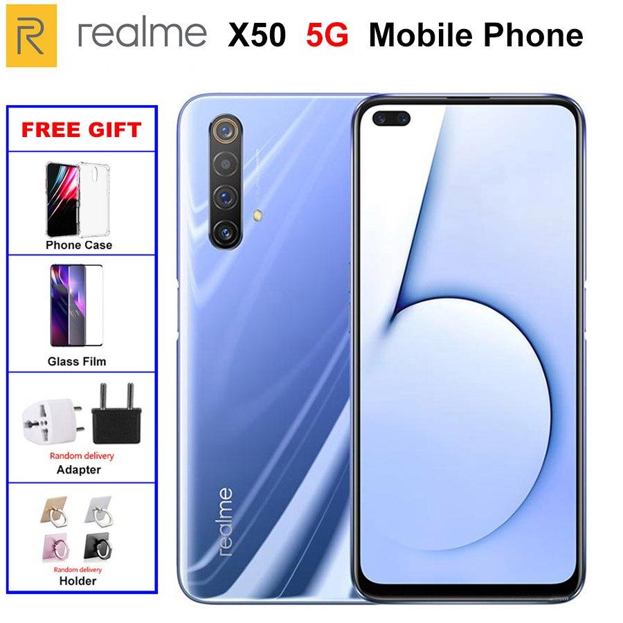 "Oirginal nuevo verdadero yo X50 5G teléfono móvil 8GB RAM 128GB ROM 6,57 ""Snapdragon 765G Quad cámara principal 64MP 4200mAh NFC 5G teléfono inteligente"
