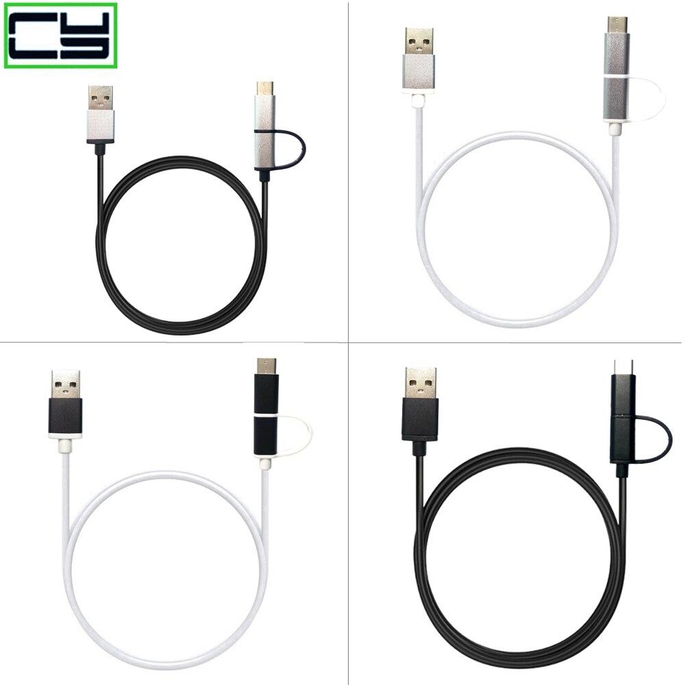 USB tipo C para una PlusTwo Oneplus dos 1 + 2 tipo C adaptador Universal Micro USB 2,0 tipo C Cable de Nylon línea y enchufe de Metal