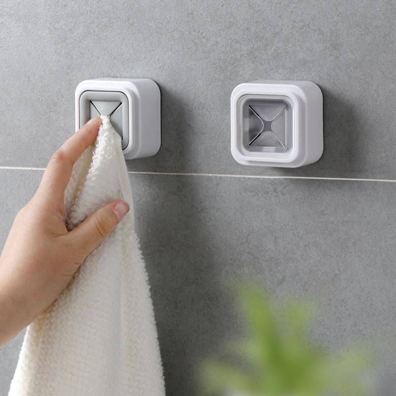 رف منشفة جافة الحائط تخزين خرقة مجلد حقيبة التخزين الذاتي لاصق الحمام التخزين C6C080X122