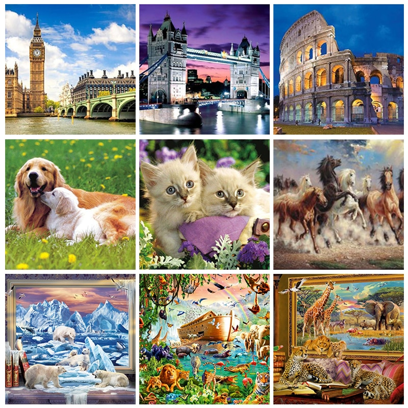 Puzzle Games 1000 Piece Puzzles For Adults Paper Anime Jigsaw Adult Puzzle Toys Kids Children Home Game Educational Toy Gift недорого