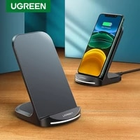 ugreen qi wireless charger stand for iphone 13 pro 12 x xs samsung s9 s10 s8 s10e fast wireless charging station phone charger
