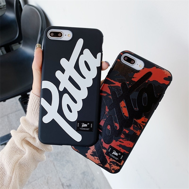 Marca de moda Sreet, funda patta holandesa para iphone X XR XS MAX 7 8 11 11Pro 11Pro MAX, funda de silicona suave de camuflaje para teléfono, capa