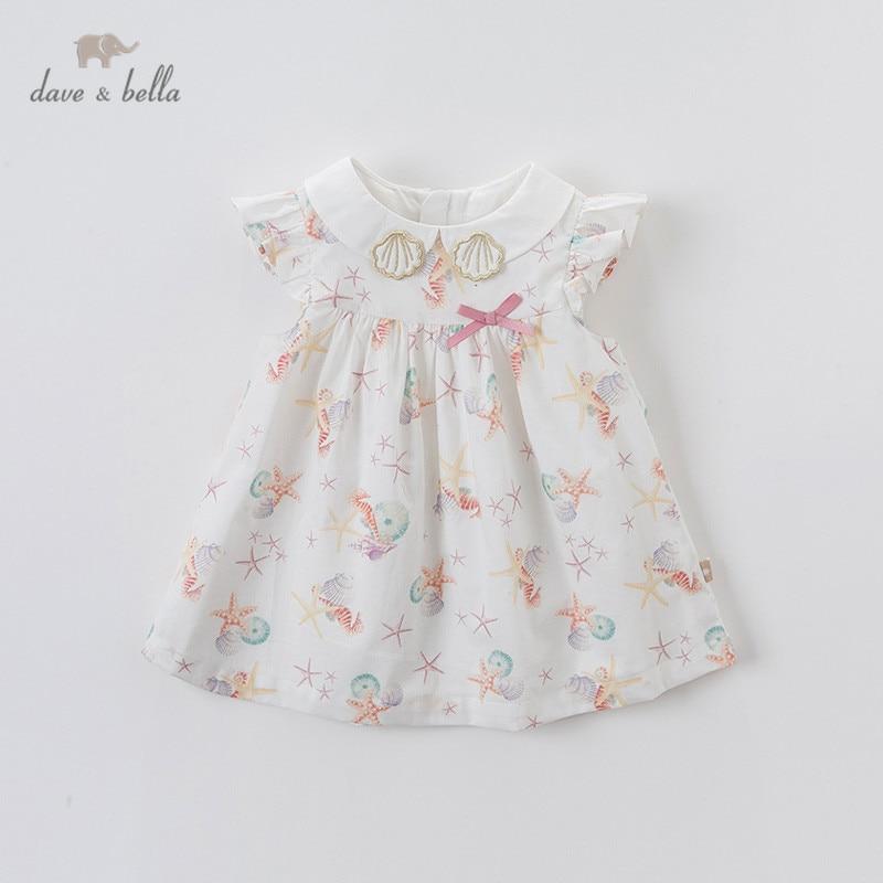 Dave bella/DBM13899 летнее платье для маленьких девочек с милым бантом и принтом, Детские Модные Вечерние Платья, детская одежда в стиле Лолита Платья для девочек    АлиЭкспресс