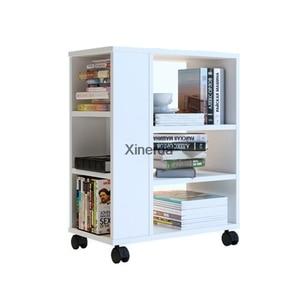 Simple Creative Small Children's Bookshelf With Wheel Easy To Move Bedroom Living Room Corner Kids Book Shelf Storage Cabinet