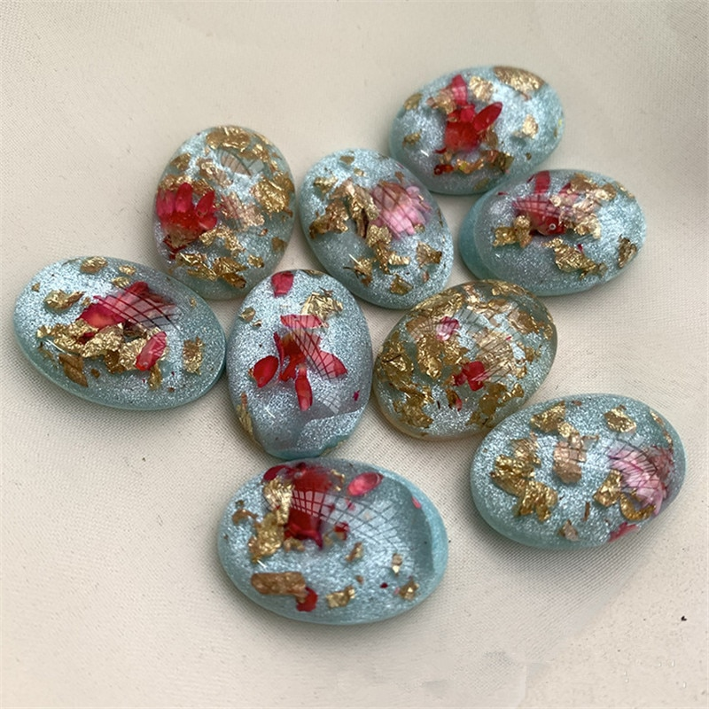 Diy jewelry making 50pcs/lot flowers glitter geometry ovals shape resin flatback without hole bead diy jewelry earring accessory