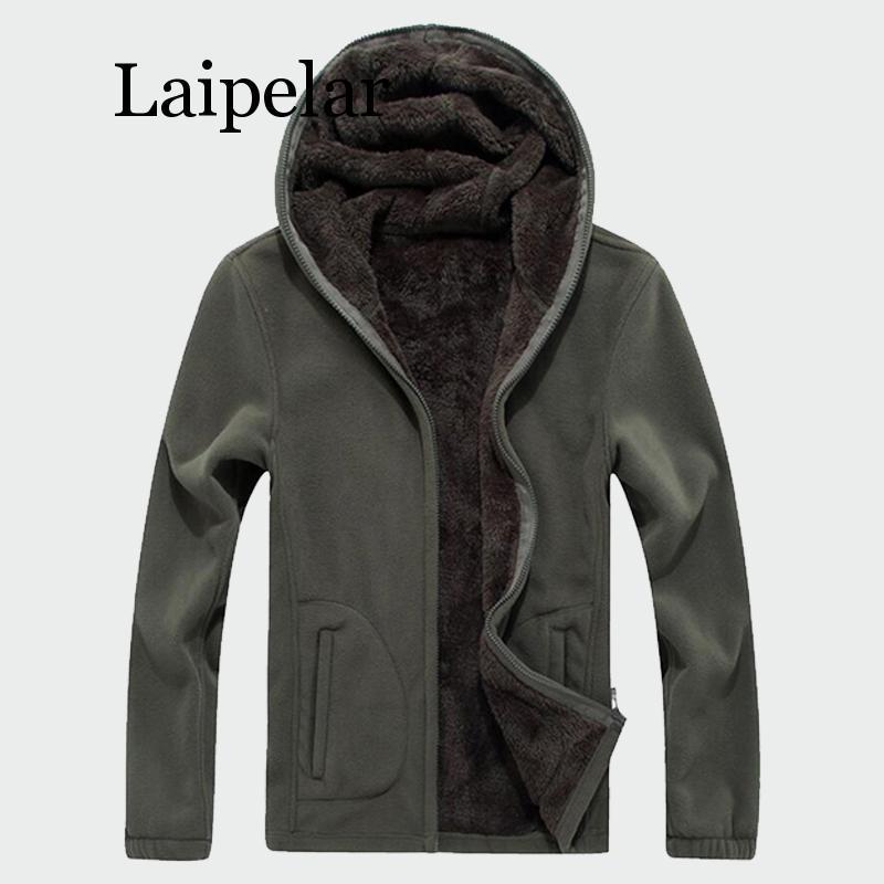Мужская зимняя флисовая куртка Laipelar в стиле милитари, новинка 2019, Теплая мужская тактическая куртка, теплые дышащие мужские толстые пальто ...