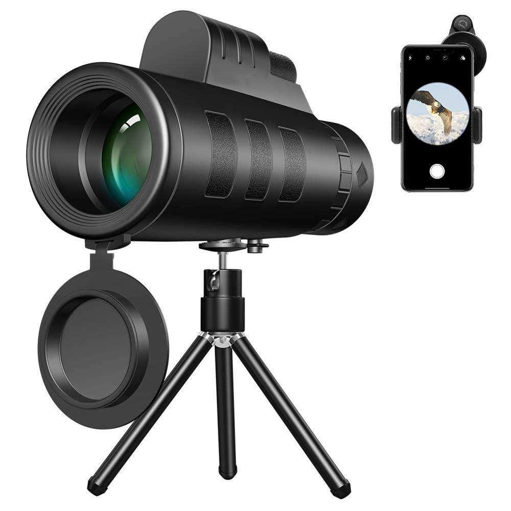 smartphone webcam Dual Focus Telescope zoom lens monocular portable 40x60 zoom scope mobile phone lens