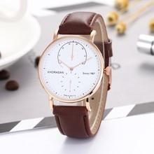 watch men business two-pin belt quartz watch simple dial pointer luxury watch fashion leather quartz