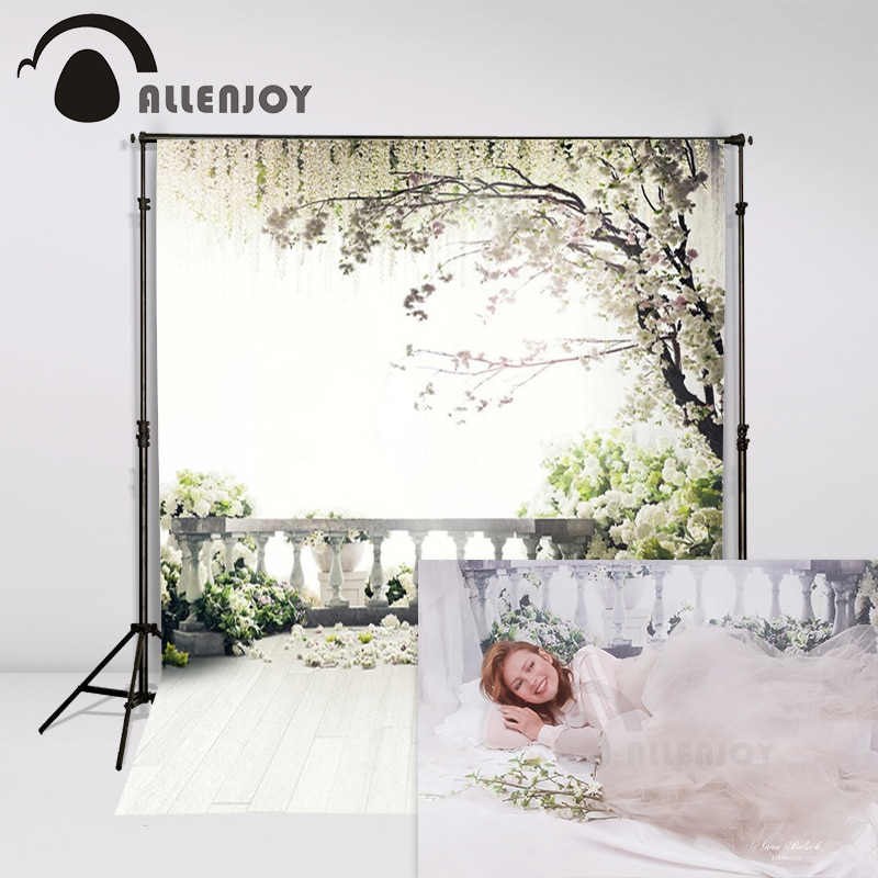 Allenjoy-Fondo de estudio de fotografía de boda, árbol para jardín, telón primaveral,...